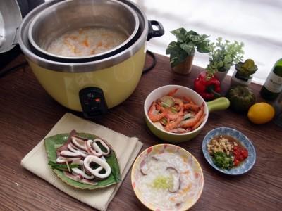 食譜-在家也能蒸海鮮? 一次享有兩種美味【蒸海鮮+鮮味精華粥】