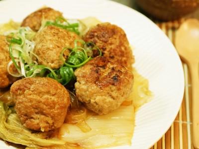 食譜-獅子頭燉白菜粉條