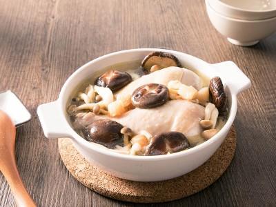 食譜-珍珠干貝鮮菇雞湯