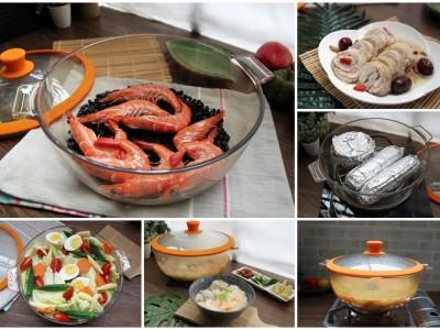 食譜- 鍋寶日本製透明三用鍋。熬粥、醉雞、石頭蝦!!開動啦~
