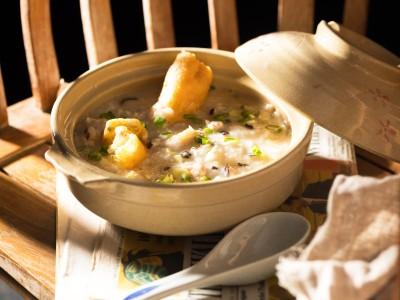 食譜-香菇滑雞粥