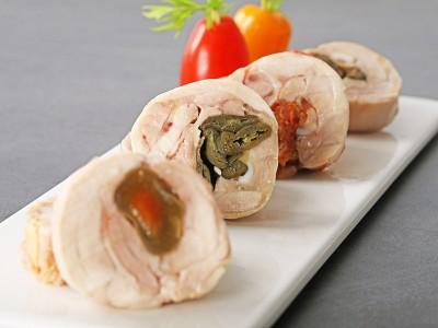 食譜-剝皮辣椒雞肉捲