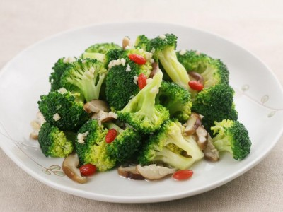 食譜-麻油蒜香青花菜