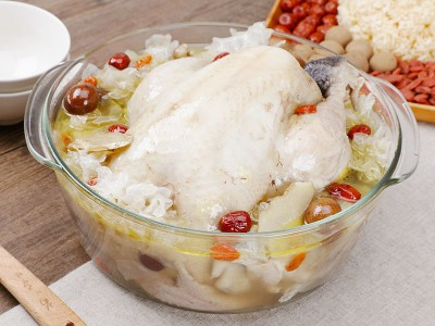 食譜-紅棗銀耳雞湯