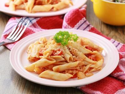 食譜-番茄培根義大利麵