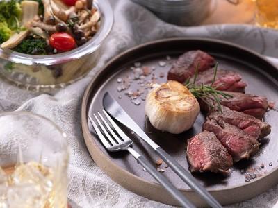 食譜-嫩煎牛排佐食蔬