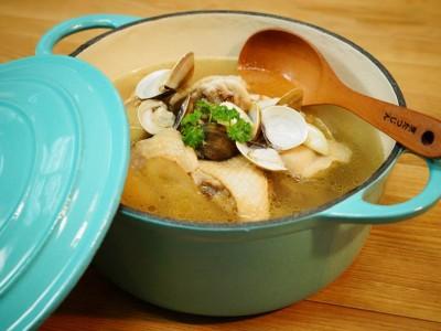 食譜-蒜味蛤蜊燉雞湯
