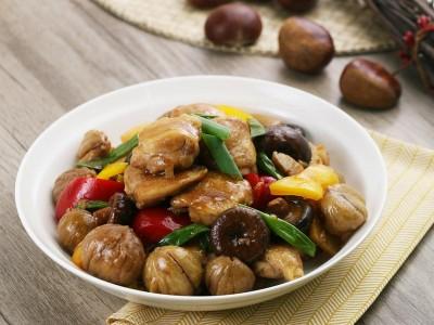 食譜-香菇栗子燒雞
