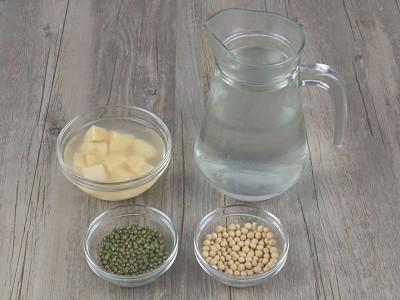 食譜-豆漿綠豆地瓜飲