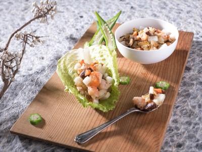 食譜-生菜水梨蝦鬆