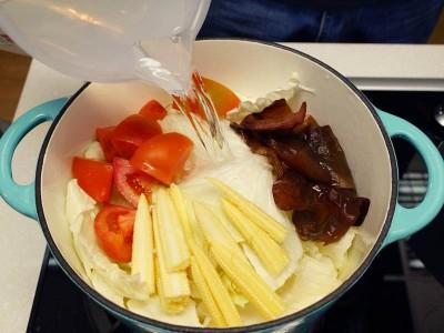 食譜-五行蔬菜湯+奶油花椰菜(一鍋兩菜)
