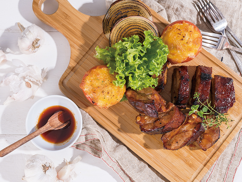 食譜-氣炸豬肋排+鮪魚番茄盅