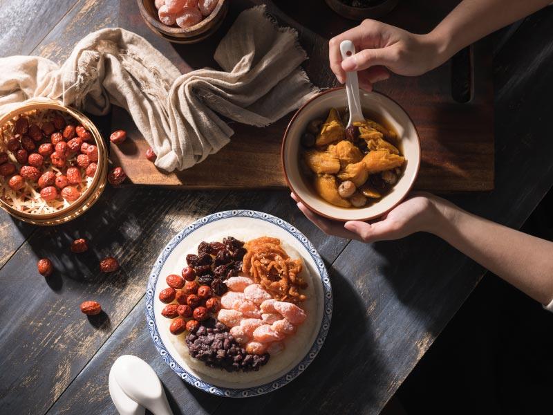 食譜-【一鍋兩菜】八寶米糕&黑糖地瓜桂圓湯
